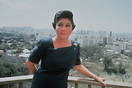 Honolulu, Hawaii, March, 1987. Imelda Marcos, the wife of the former president of the Philippines, in their home during political exile years.