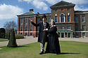 London, UK. 23.04.2013. Birmingham Stage Company's Neal Foster (Prince Albert) and Alison Fitzjohn (Queen Victoria) at Kensington Palace to launch Barmy Britain - Part Two, which will premiere at the Garrick Theatre from 26th September. Photograph © Jane Hobson.
