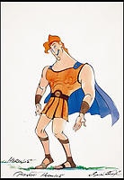 BNPS.co.uk (01202 558833)<br /> Pic: Sothebys/BNPS<br /> <br /> Walt Disney's Hercules.<br /> <br /> A collection of more than 130 drawings by one of Britain's most celebrated cartoonists has emerged for auction and are tipped to sell for &pound;850,000.<br /> <br /> The collection of Gerald Scarfe - who has worked as a cartoonist for the Sunday Times for 44 years - includes satirical portraits of leading political figures from Winston Churchill to Theresa May, as well as examples of his work on Disney film Hercules and Pink Floyd's animation film The Wall.<br /> <br /> While many of the drawings included in the auction have been published, a number of works included in the sale are unseen.<br /> <br /> Those who have been immortalised in his cartoons include Donald Trump, Barack Obama, George Bush, David Cameron, Tony Blair, Margaret Thatcher, Boris Johnson, Nigel Farage, George Osborne and Jeremy Corbyn.