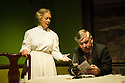 Hindle Wakes, written by Stanley Houghton, directed by Bethan Dear and produced by Jamil Jivanjee, opens at the Finborough Theatre. It is the play's first London revival in 30 years. Picture shows: Anna Carteret (as Mrs Hawthorn) and Peter Ellis (as Christopher Hawthorn).