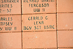 Jerry Lexa's brick at the dedication of the new Veterans Park in Oxford, Miss. on Saturday, June 30, 2012.