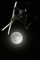 TJ Schiller, of Canada, soars above a full moon at San Francisco's AT&amp;T Park during the 2nd annual Icer Big Air competition.  Schiller, who took third in last year's contest, came in first.