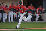 Mississippi's Alex Yarbrough scores on Miles Hamblin sacrifice fly vs. UT-Martin college baseball at Oxford-University Stadium in Oxford, Miss. on Wednesday, April 28, 2010.