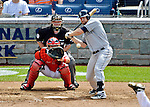15 May 2012: San Diego Padres third baseman Chase Headley at bat during a game against the Washington Nationals at Nationals Park in Washington, DC. The Padres defeated the Nationals 6-1 to split their 2-game series. Mandatory Credit: Ed Wolfstein Photo