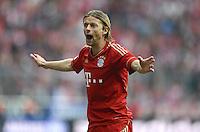 FUSSBALL   1. BUNDESLIGA  SAISON 2011/2012   31. Spieltag FC Bayern Muenchen - FSV Mainz 05       14.04.2012 Anatoliy Tymoshchuk (FC Bayern Muenchen)