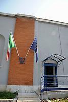Casa Circondariale Femminile Rebibbia. Ingresso esterno..Rebibbia prison in Rome.