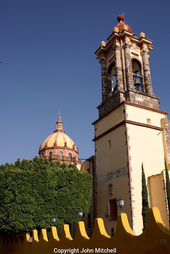 The Templo  de la Concepcion or Templo de las Monjas in San Miguel de Allende, Mexico