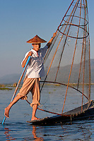 Myanmar, Burma, Inle Lake Fishermen