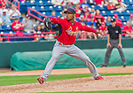 7 March 2015: St. Louis Cardinals pitcher Sam Freeman on the mound during a Spring Training game against the Washington Nationals at Space Coast Stadium in Viera, Florida. The Cardinals fell to the Nationals 6-5 in Grapefruit League play. Mandatory Credit: Ed Wolfstein Photo *** RAW (NEF) Image File Available ***