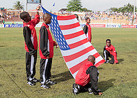 American Flag. US Under-17 Men's National Team defeated United Arab Emirates 1-0 at Gateway International  Stadium in Ijebu-Ode, Nigeria on November 1, 2009.