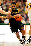 30 January 2010: University at Albany Great Danes' guard Mike Black, a Freshman from Chicago, IL, in action against the University of Vermont Catamounts at Patrick Gymnasium in Burlington, Vermont. The Catamounts defeated the Danes 64-46 in the America East matchup. Mandatory Credit: Ed Wolfstein Photo