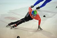 SHORTTRACK: AMSTERDAM: 05-01-2014, Jaap Edenbaan, NK Shorttrack, Aflossing Heren, Sjinkie Knegt, ©foto Martin de Jong