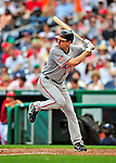 24 May 2009: Baltimore Orioles' starting pitcher Brad Bergesen at bat during a game against the Washington Nationals at Nationals Park in Washington, DC. The Nationals rallied to defeat the Orioles 8-5 and salvage a win in their interleague series. Mandatory Credit: Ed Wolfstein Photo