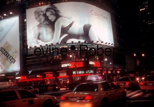 Calvin Klein billboard on 42nd Street in Times Square on February 10, 2006. (© Richard B. Levine)