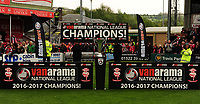 The presentation podium<br /> <br /> Photographer Andrew Vaughan/CameraSport<br /> <br /> Vanarama National League - Lincoln City v Macclesfield Town - Saturday 22nd April 2017 - Sincil Bank - Lincoln<br /> <br /> World Copyright &copy; 2017 CameraSport. All rights reserved. 43 Linden Ave. Countesthorpe. Leicester. England. LE8 5PG - Tel: +44 (0) 116 277 4147 - admin@camerasport.com - www.camerasport.com