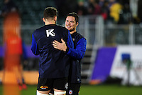 Francois Louw of Bath Rugby looks on during the pre-match warm-up. European Rugby Challenge Cup match, between Bath Rugby and Cardiff Blues on December 15, 2016 at the Recreation Ground in Bath, England. Photo by: Patrick Khachfe / Onside Images