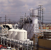 Small industrial electricity co-generation plant. Los Angeles, United States of America..