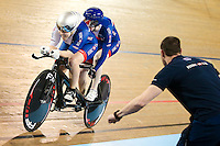 Picture by Alex Whitehead/SWpix.com - 04/03/2017 - Cycling - UCI Para-cycling Track World Championships - Velo Sports Center, Los Angeles, USA - Great Britain's Alison Patrick (piloted by Helen Scott).