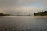 Mist over Tea Lake Algonquin Park Ontario Canada