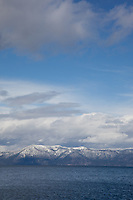 """Lake Tahoe 5"" - This cloudy scene was photographed from the West shore of Lake Tahoe."