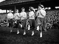 American Football at Croke Park - Burtonwood Bullets vs. Wethersfield Raiders.Cheerleaders.21/11/1953