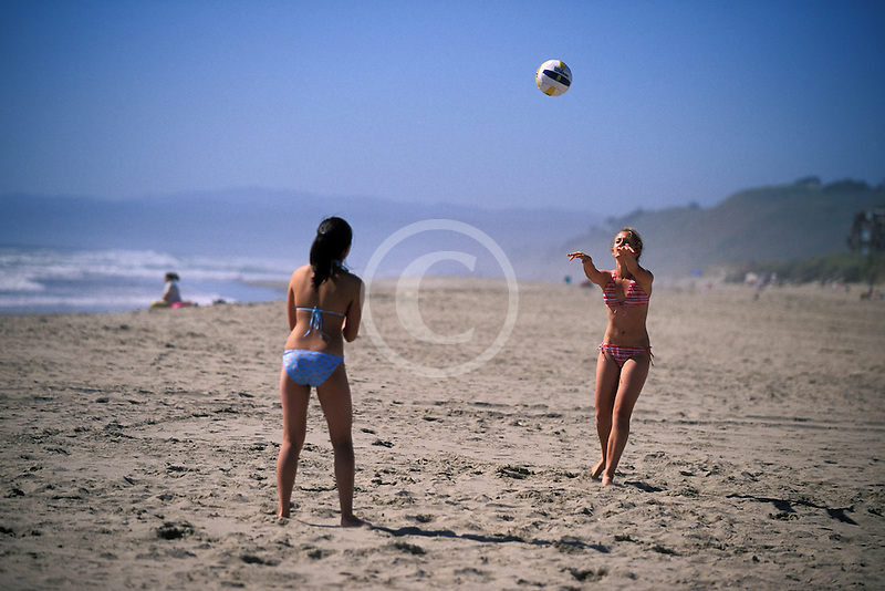 California, Santa Cruz County, Pajaro Dunes, Beach volleyball
