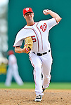 6 March 2011: Washington Nationals' pitcher Doug Slaten on the mound during a Spring Training game against the Atlanta Braves at Space Coast Stadium in Viera, Florida. The Braves shut out the Nationals 5-0 in Grapefruit League action. Mandatory Credit: Ed Wolfstein Photo