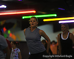Ashley Johnson attends a Zumba class at the Skate Place in Oxford, Miss. on Wednesday, February 18, 2010.