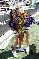 SEP 12, 2015:  University of Washington cheerleader Lindsy Russell vs Sacramento State at Husky Stadium in Seattle, Washington. Washington won over Sacramento State.