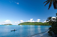Kayaker at Maho Bay<br />