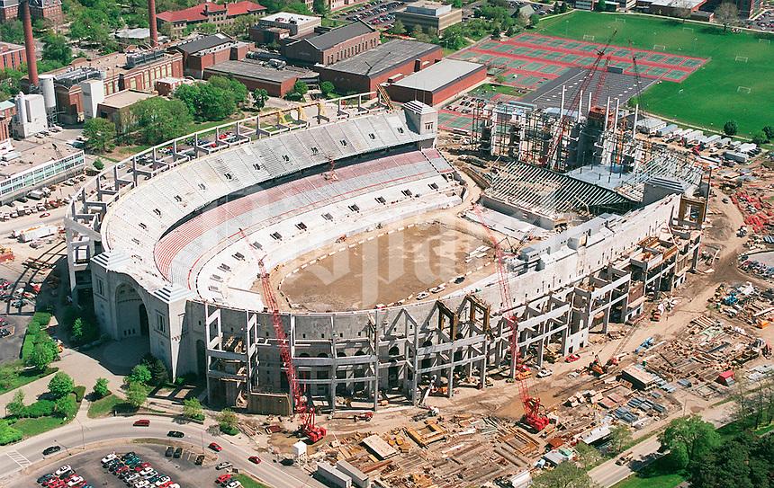 Ohio Stadium under construction at Ohio State University in Columbus, Ohio  Wednesday May 3, 2000. (Columbus Dispatch photo by Craig Holman)