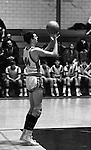 Bethel Park PA:  John Klein 44 shooting a foul shot during a basketball game against the Mt Lebanon Blue Devils at Bethel Park Gymnasium - 1968.  The JV Team was coached by Mr. Reno and the Bethel Park JVs won the Section Championship.  The team included; Scott Streiner, Steve Zemba, John Klein, Mike Stewart, Bruce Evanovich, Jeff Blosel and Tim Sullivan.