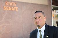 Phoenix, Arizona (March 16, 2014) -- Senator Steve Gallardo standing outside the Senate building in Phoenix, Arizona. Photo Eduardo Barraza © 2014