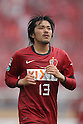 Shinzo Koroki, (Antlers), April 23rd, 2011 - Football : 2011 J.LEAGUE Division 1, 7th Sec match between Kashima Antlers 0-3 Yokohama Marinos at National Stadium, Tokyo, Japan. The J.League resumed on Saturday 23rd April after a six week enforced break following the March 11th Tohoku Earthquake and Tsunami. All games kicked off in the daytime in order to save electricity and title favourites Kashima Antlers are still unable to use their home stadium which was damaged by the quake. Velgata Sendai, from Miyagi, which was hard hit by the tsunami came from behind for an emotional 2-1 victory away to Kawasaki. (Photo by Akihiro Sugimoto/AFLO SPORT) [1080].