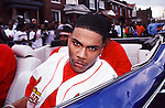 """Nelly on the set of the """"Country Grammar"""" video shoot in St. Louis, MO.  Photo credit:  Presswire News/Elgin Edmonds"""