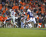 Ole Miss' Brandon Bolden (34) runs vs. Auburn at Jordan-Hare Stadium in Auburn, Ala. on Saturday, October 29, 2011. Auburn won 41-23..