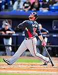 2 March 2010: Atlanta Braves catcher Brian McCann at bat against the New York Mets during the Opening Day of Grapefruit League play at Tradition Field in Port St. Lucie, Florida. The Mets defeated the Braves 4-2 in Spring Training action. Mandatory Credit: Ed Wolfstein Photo