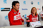 LONDON, ENGLAND 28/08/2012 -  Marco Dispaltro and Diane Roy at the Team Canada Preview Press Conference at the London 2012 Paralympic Games at The Main Press Centre. (Photo: Phillip MacCallum/Canadian Paralympic Committee)