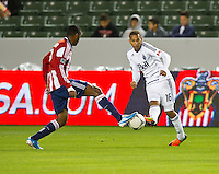 CARSON, CA - March 17, 2012: Vancouver Whitecaps FC midfielder Matt Watson (16) during the Chivas USA vs Vancouver Whitecaps FC match at the Home Depot Center in Carson, California. Final score Vancouver Whitecaps 1, Chivas USA 0.