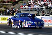 May 18, 2012; Topeka, KS, USA: NHRA pro stock driver Kurt Johnson during qualifying for the Summer Nationals at Heartland Park Topeka. Mandatory Credit: Mark J. Rebilas-