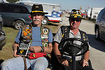 Jack Zallen, B Co, 1st Battalion, 7th Cavalry, left, survivor of the cutoff platoon at LZ Xray and another Vietnam Veteran. Vietnam Veterans gather in Kokomo, Indiana for the 2009 reunion.