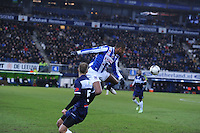 VOETBAL: HEERENVEEN: Abe Lenstra Stadion, 07-02-2015, Eredivisie, sc Heerenveen - PEC Zwolle, Eindstand: 4-0, Kenneth Otigba (#2), ©foto Martin de Jong