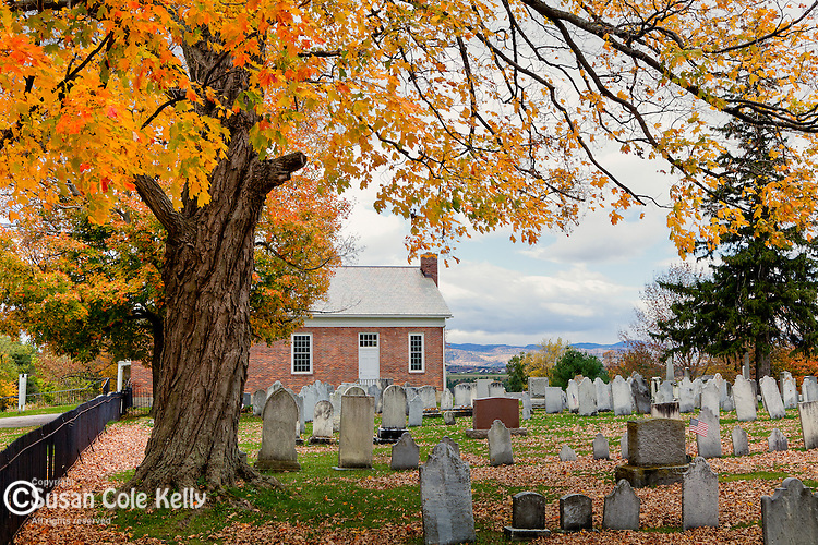 Fall foliage in Bridport, VT, USA