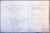 BNPS.co.uk (01202 558833)<br /> Pic: PropStore/BNPS<br /> <br /> Star Wars - Ep V - The Empire Strikes Back: Millennium Falcon Side and Bottom Blueprint.<br /> <br /> Fascinating blueprints from the early Star Wars and Star Trek films have been unearthed.<br /> <br /> An auction house is selling a selection of blueprints which include front elevations of R2-D2, interior and exterior set renderings of the Millennium Falcon and front, side and bottom views of the USS Enterprise as well as USS Enterprise set plans.<br /> <br /> The blueprints - many of which have never before been seen by the public - provide a unique insight to fans of the iconic films about how they were made.