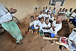 Students in an elementary school sponsored by the United Methodist Church in the village of Wembo Nyama, DR Congo.