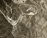 historical aerial photograph Monte Rio, California, 1952