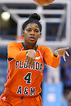 17 November 2015: Florida A&M's Jessica Njoku. The University of North Carolina Tar Heels hosted the Florida A&M University Rattlers at Carmichael Arena in Chapel Hill, North Carolina in a 2015-16 NCAA Division I Women's Basketball game. UNC won the game 94-58.