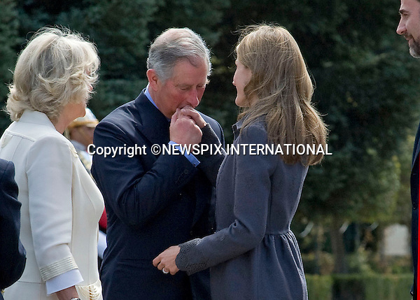 """PRINCE CHARLES AND CAMILLA, DUCHESS OF CORNWALL.WELCOMED BY CROWN PRINCE FELIPE AND CROWN PRINCESS LETIZIA OF SPAIN.at the start of their three day tour of Spain, Palacio Del Pardo, Madrid_30/11/2011..Mandatory Credit Photo: ©Dias/NEWSPIX INTERNATIONAL..**ALL FEES PAYABLE TO: """"NEWSPIX INTERNATIONAL""""**..IMMEDIATE CONFIRMATION OF USAGE REQUIRED:.Newspix International, 31 Chinnery Hill, Bishop's Stortford, ENGLAND CM23 3PS.Tel:+441279 324672  ; Fax: +441279656877.Mobile:  07775681153.e-mail: info@newspixinternational.co.uk"""