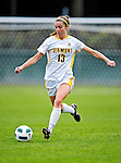 14 October 2010: University of Vermont Catamount midfielder Caitlin McGowan, a Senior from Rye, NY, in action against the University of Hartford Hawks at Centennial Field in Burlington, Vermont. The Hawks defeated the Lady Cats 6-2 in America East play. Mandatory Credit: Ed Wolfstein Photo