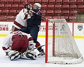 Clay Anderson (Harvard - 5), Brady Tkachuk (NTDP - 7) - The Harvard University Crimson defeated the US National Team Development Program's Under-18 team 5-2 on Saturday, October 8, 2016, at the Bright-Landry Hockey Center in Boston, Massachusetts.